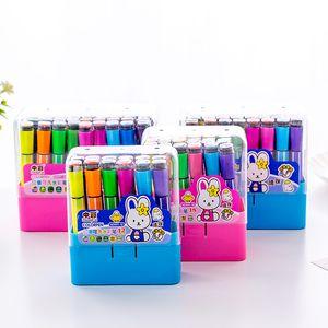 Freies Verschiffen 36 Farben Kind Aquarell Stift Dichtung Waschbare Aquarell Stift Pinsel Pinsel 36 Farben Grundschule Student Dichtung Farbe Stift Painti