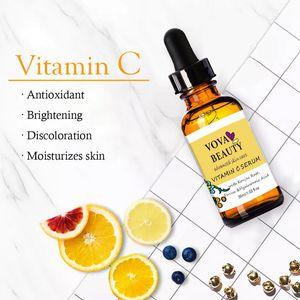 VOVA Vitamin C Effective Whitening Face Serum Freckle Removal Brighten Skin Remove Stains Melanin Shrink Pores Moisturizing Care