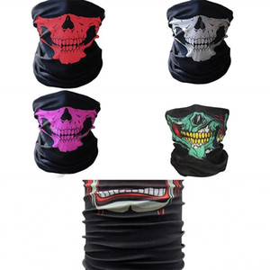 Skull Magic Turban Bandanas Skull Face Masks Skeleton Outdoor Sports Ghost Neck Scarves Headband Cycling Motorcycle Wrap CCA11237 11 W2