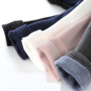 Winter With Velvet Leggings For Girls Thicken Trousers Baby Girl Warm Leging Casual Pants Sports Leggings For Kids 210202