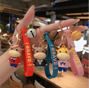 Cartoon Figures hand-made creative cartoon fun keychain men's and women's car bags woven key chain pendant