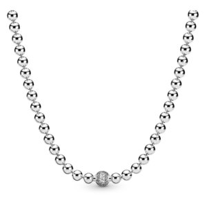 High Quality Original 925 Sterling Silver Pandora Winter Beads Necklace Women Jewelry Gift Wholesale
