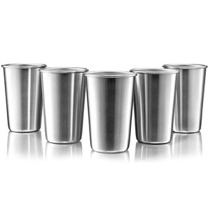 New Stainless Steel Metal Cup Beer Cups White Wine Glass Coffee Tumbler Tea Milk Mugs Outdoor Travel Camping Mugs BWF5154