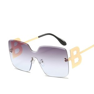 Солнцезащитные очки 2021 Негабаритные Градиентные Женщины Мода Безумные квадратные Металлические Женские Мужчины Солнцезащитные Очки