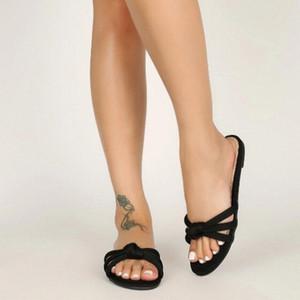 PUIMENTIUA Sandali da donna sandali donne estate pantofole antiscivolo piattaforma di bendaggio scarpe da spiaggia all'aperto spiaggia pantofole sandali solido scarpa femminile piatto D5UA #