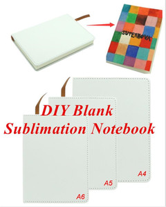 Blank Sublimation Notebook A4 A5 A6 Sublimation PU-Leather Cover Soft Surface Notebook Hot transfer Printing Blank consumables DIY Gifts
