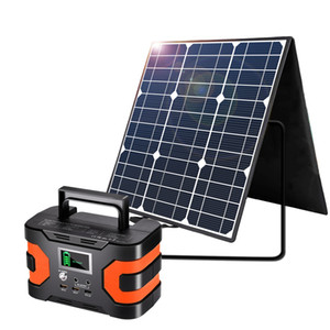 100W 18V Portable Solar Panel, Flashfish Foldable Solar Charger with 5V USB 18V DC Output Compatible with Portable Generator, Smartphones