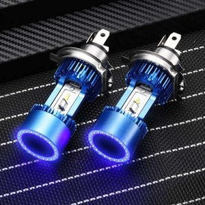 Car Headlights Plug&play 30W 3200lm LED H4 Headlight Hi-low Beam HS1 P43T Motorcycle Auto Scooter Light Angel Eye Blue White 6000K 12 24V