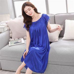 Женские спящие одежды Сексуальная ночная одежда длинное платье роскошные ночные женские женщины повседневные ночные дамы домашние халаты
