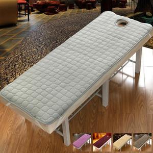50 Feuilles de lit de matelas antidérapant Sans salon de beauté Flanel Soins du corps dédié State SPA Feuille de massage Table de massage avec des trous