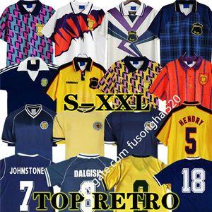 1986 1995 İskoçya Retro Futbol Forması 96 98 Dünya Kupası Ekipmanları Ev Mavi Kitleri 1996 1998 Klasik İskoçya Vintage Futbol Gömlek 78 82