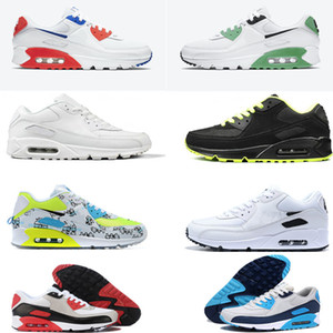 Air Max 90 Men Women For Running shoes Triple Black White Pink Blue Grey Black Croc Infrared Mens Fashion Trainer Outdoor Sport Sneaker 36-45