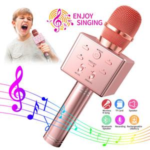 K8 Mikrofon Ses Entegre Cep Telefonu Müzik Çalar ile TF Kart K Şarkı Çocuk Kablosuz Bluetooth Şarkı Karaoke Bluetooth Hoparlör