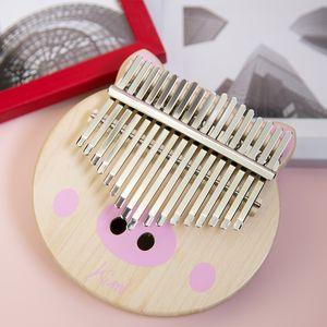 KIMI Kalimba thumb piano maple piglet cute shape 17 tone key easy to use is light color wood good stability