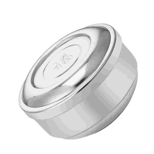Bowls 1PC Stainless Steel Rice Bowl With Lid Creative Double Layer Household Kids Container Stylish Round Utensils