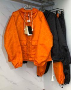 2021 Yeni Kış Erkek Ceket Moda Jakarlı Naylon Çift Ince Erkekler Ve Kadın Erkek S Giyim Ceketler Siyah Turuncu