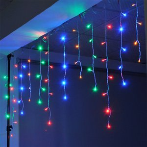 10M X 0.5M 320 Lamps LED Icicle Lights Outdoor Home Christmas Decorative Xmas String Fairy Curtain Garlands Party Lights For Wedding 2021