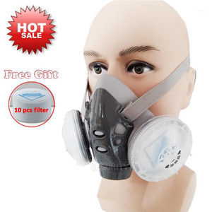 2020 High Quality Dust Mask Respirator With Dual Filter Half Face Mask For Carpenter Builder Miner Polishing Dust-proof1