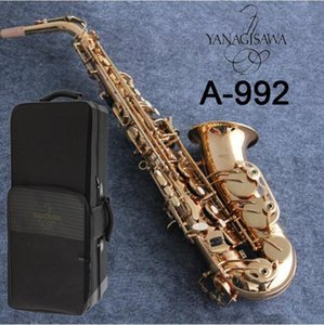 High-Quality Japan Brand Alto Saxophone YANAGISAWA A-992 Golden Sax Lacquer gold saxofone brass Musical instrument With mouthpiece