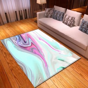 Carpets Nordic Colorful Printed Home Decor Bedside Bedroom Area Rugs Flannel Memory Foam Dining Table Mat Living Room Carpet