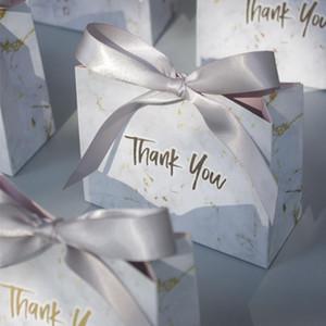 50 stücke kreative grau marmor geschenk tasche box für party baby shower papier schokoladenboxen paket hochzeit favors süßigkeiten boxen