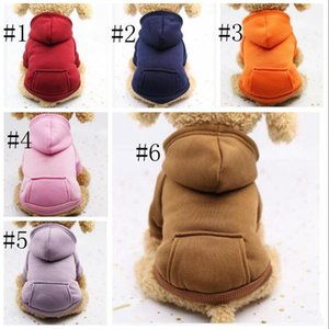 Hooded Pocket Sweater Small Dogs Hoodies Coat Pocket Jackets With Sleeve Dogs Outside Travel Winter Warm Clothes Pet Supplies 238 S2