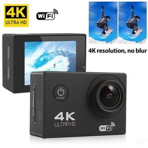 Action Camera Ultra HD 4K 30fps WiFi 2.0 inch 170D Underwater Waterproof Helmet Video Recording Sport Cam