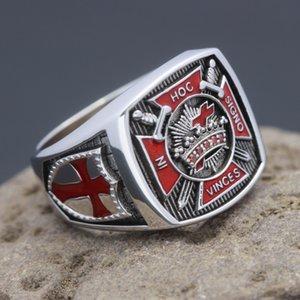 Темплаар рыцарей в HOC Signo Vinces Freemasons Masonic Shone Silver Ring
