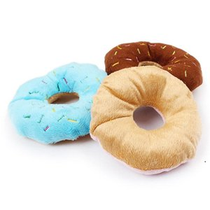 Pet Dog Puppy Cat Squeaker Quack Sound Toy Chew Donut Play Toys Wholesale DHF5253