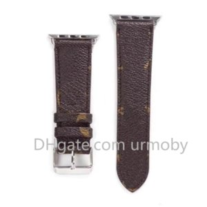 men's and women's  designer Watch Strap 38mm 40mm 42mm 44mm Watch Band for iwatch 2 3 4 5 Leather Fashion Stripes watchband drop shipping