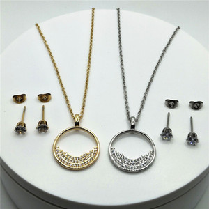 2021 Hot Sale Fashion Designer Design Pendant Necklace with Round Circle Pendant Necklace Factory Direct Free Shipping
