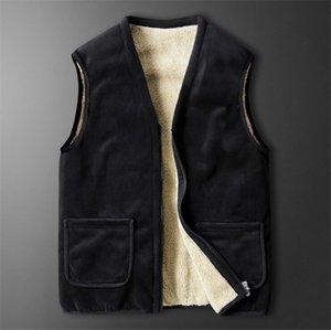 Новая мужская рубашка мужчина жилет без рукавов для отца дедушка теплый жилет зима мужские повседневные рубашки одежда для мужских рубашек мужская куртка
