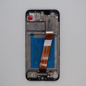 Samsung Galaxy A01 LCD Ekran Dokunmatik Ekran Digitizer Meclisi Çerçeve Ile Değiştirme