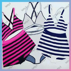 Designers Bikini Suits Fashion Letters Printed Women Swimwear Kintting Waist Elastic Womens Bikinis Set Sexy Backless Ladies Swim Swimsuits