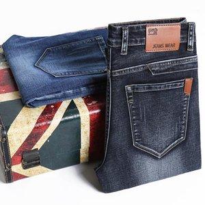 Мужские джинсы мужские мужские джинс Homme Denim Slim Fit брюки брюки прямые синие черные байкер повседневная высокая качественная мода бизнес1