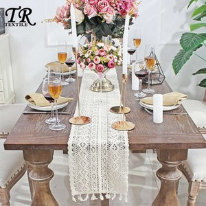 Classic Nordic lace weaving Korean tea table cloth bed flag