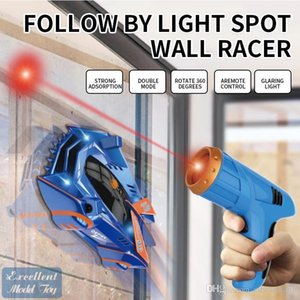 EMT ST1 Infrared Laser Remote Control Wall Climbing Stunt Car Toy, Electric Suction, 360° Rotate, Gorgeous Lights, Christmas Kid Gift, 2-1