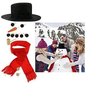 Hiver Party Kids Jouets DIY Bonhomme de neige Faire la décoration Dressing Kit de décoration de vacances de Noël Faire un bonhomme de neige Outils OWD4952
