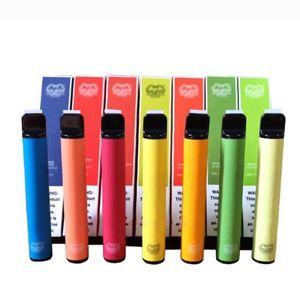 최신 퍼프 바 플러스 색상 일회용 장치 550mAh 배터리 800+ 퍼프 3.2ml 포드 미리 채워진 vape 포드 스틱 휴대용 증기