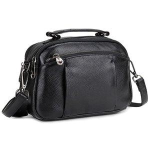 Leather women's handbag 2021 new large capacity shoulder bag commuter zipper women's messenger bag