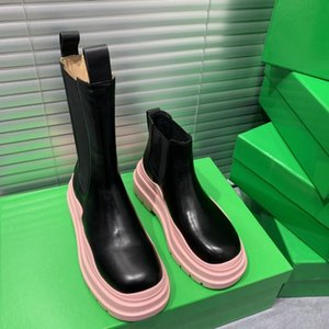 designer's latest customized logo women's boots leather non slip rubber sole luxury comfort exquisite technology high quality 35--40