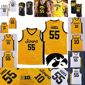 Custom 2020 Iowa Hawkeyes Jersey Basketball NCAA College Luka Garza Joe Wieskamp CJ Fredrick Bohannon Connor McCaffery Ahron Ulis Toussaint