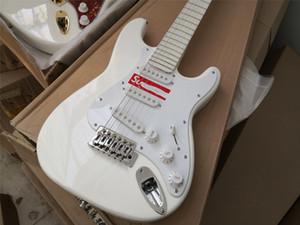 free shipping custon guitar,white guitar,kids little children guitar,white fingerboard,SSS pickups,tremolo bridge