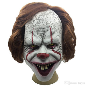 Stephen King's Clown Mask Full Face Horror Joker Mask Latex Masks Clown Mask Halloween Cosplay Costume Props Party Masks DBC VT0944