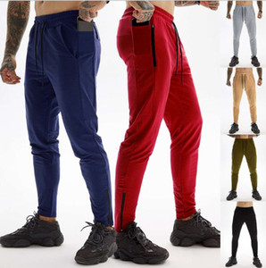 2021 new men's sports European casual fitness running training pants