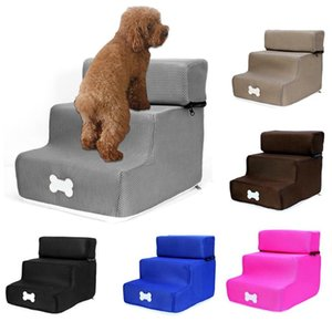 Pet Stairs Steps 3 Ladder Dog House Puppy Cat Bed Steps Foldable Anti-slip Removable Pet Bed Cat Dog Ramp Stairs Puppy Supplies