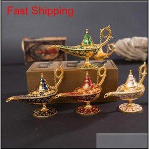 Collectable Legend Aladdin Magic Lamp Ornaments Incense Burners Pot Classic Perfect Festival Gift Wishing Lamp Home Decor Crafts Pdao0 Vanrc