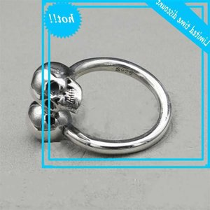 Novo Anel de Crânio Tailandês para 100% Real S925 Puro Prata Moda Personalidade Homens e Mulheres Anéis