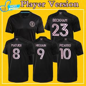 Версия для игрока Интер Miami футбол для футболки 2021 проезд черный Beckham Matuidi Higuain Pizarro Футбольная рубашка