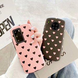 Милая любовь сердца мягкий телефон чехол для huawei p40 чехол p30 mate 30 nova 7 честь v30 простой мультфильм розовый волна точка любовь крышка сердца